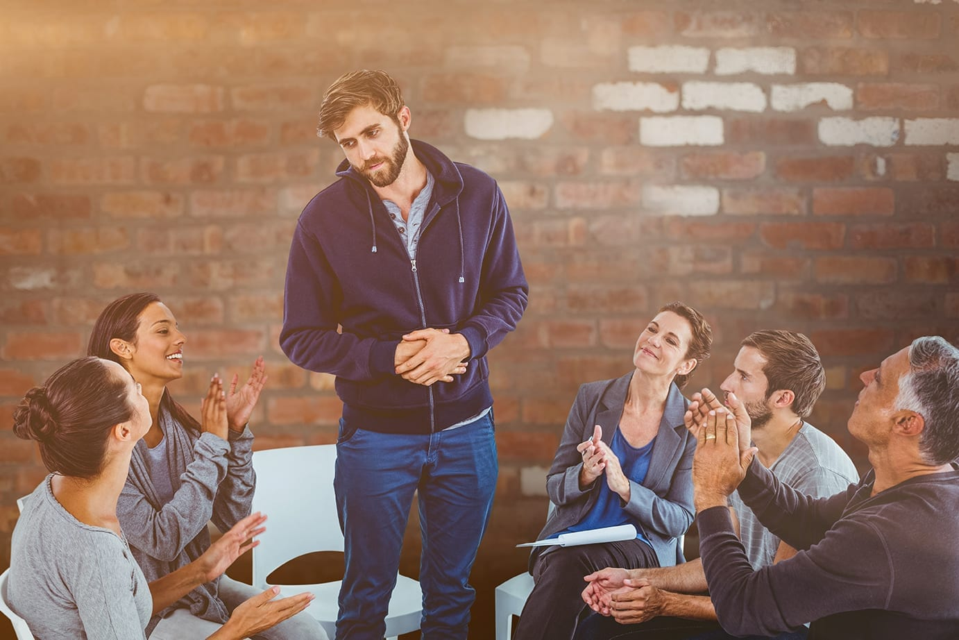 recovery meetings after addiction treatment